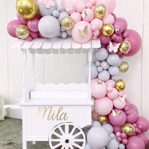 SUGAR CART GARLAND $400 (CART NOT INCLUDED)